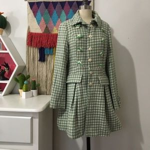 KLING MINT HOUNDSTOOTH PEACOAT